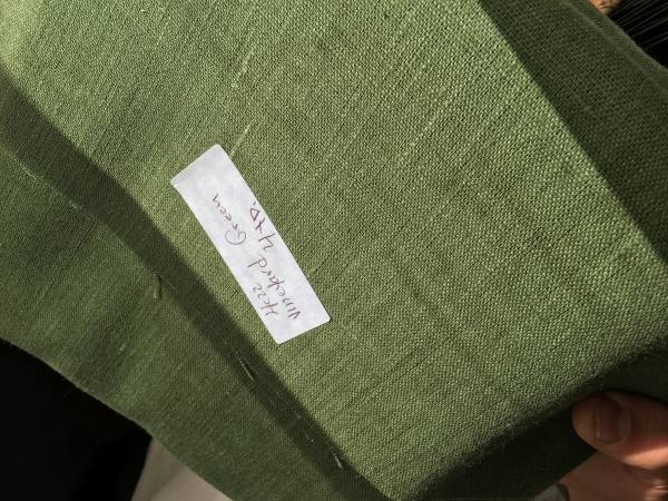 4C22   VINEYARD GREEN Softened - 100% Linen