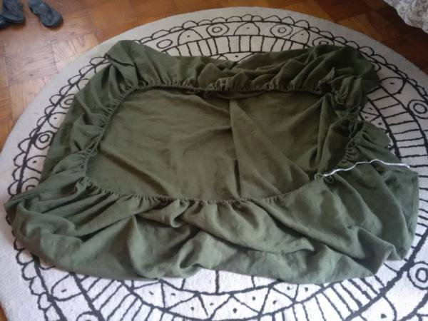 IL019   VINEYARD GREEN Softened - 100% Linen