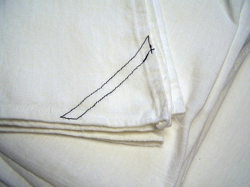 IL019   OPTIC WHITE Softened - 100% Linen