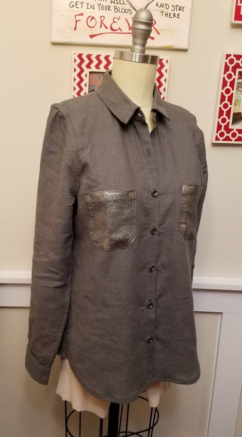 1C64   LEAD GREY Softened - 100% Linen