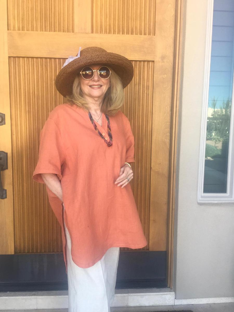 Cameron — Linen Pullover Dress, Blouses and Top