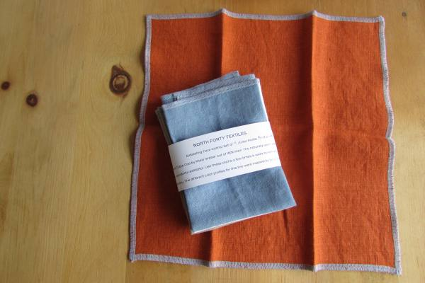 IL019   RUST Softened - 100% Linen