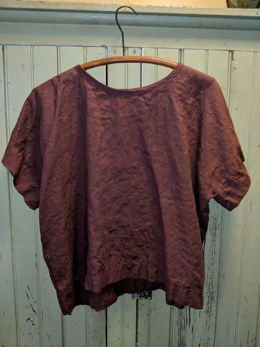 IL020   ROSE BROWN Softened - 100% Linen
