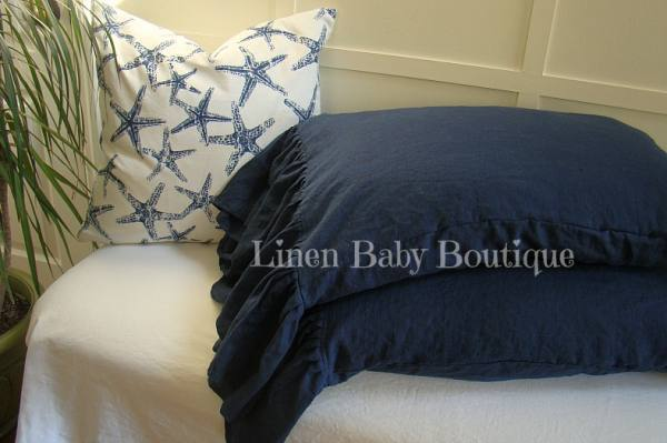 IL019   COBALT Softened - 100% Linen