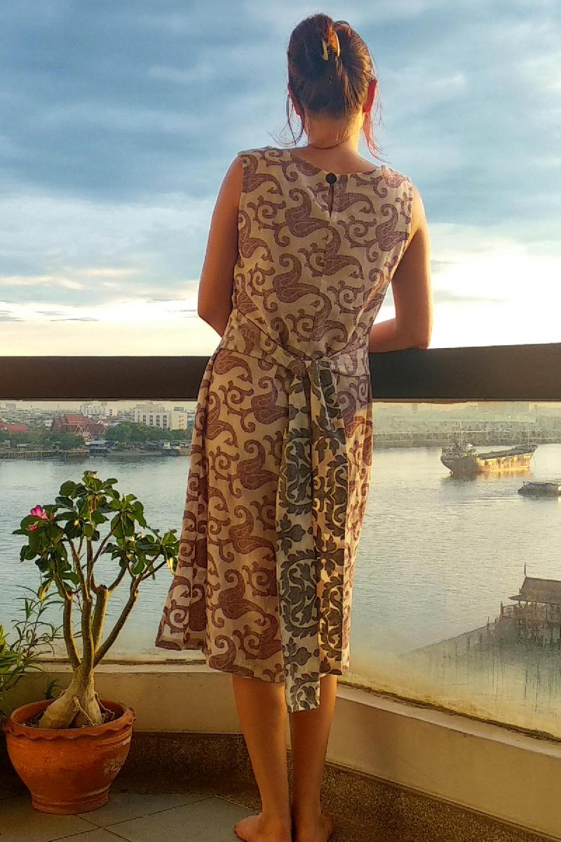 Ellen — Whimsical Linen Bow Dress Pattern