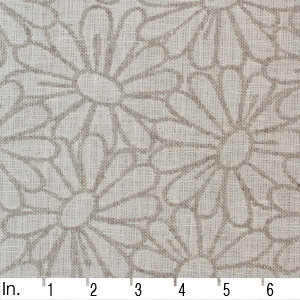 SO IL002 DAISY FIELD  IVORY-NATURAL  - 100% Linen - Canvas (10 oz/yd<sup>2</sup>)