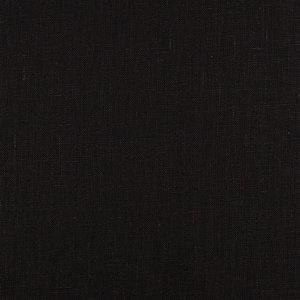 4C22 100% Linen fabric BLACK -  Softened