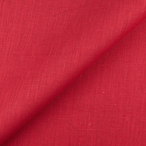 4C22   FIRECRACKER RED Softened - 100% Linen - Heavy (7.1 oz/yd<sup>2</sup>) - 20.00  Yards