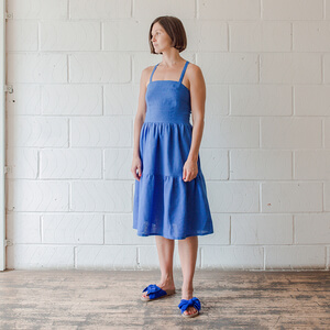 Rhea — Tiered Sundress With Shirred Back