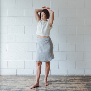 Ida — Linen Bias Wrap Skirt Pattern