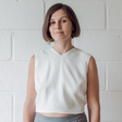 Fred — Linen Knotted Crop Top
