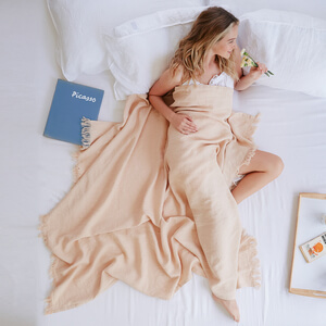 Andrea  — Linen Lap Throw