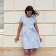 Diana — Button Down Linen Pleated Dress