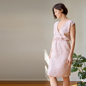 Ruby — Crossover Linen Dress Pattern