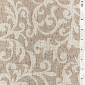 IL002 SCROLLS  IVORY-NATURAL  - 100% Linen - Canvas (10 oz/yd<sup>2</sup>)
