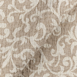 SO IL002 SCROLLS  IVORY-NATURAL  - 100% Linen - Canvas (10 oz/yd<sup>2</sup>)