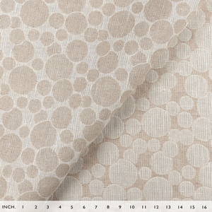 IL002 POLKA DOTS  IVORY-NATURAL  - 100% Linen - Canvas (10 oz/yd<sup>2</sup>)