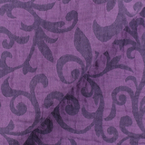 IL002 SCROLLS  PURPLE  - 100% Linen - Canvas (10 oz/yd<sup>2</sup>)