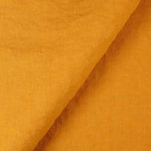 IL019 100% Linen fabric AUTUMN GOLD -  FS Signature Finish
