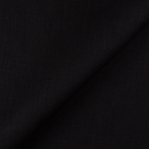 IL019   BLACK Softened - 100% Linen - Middle (5.3 oz/yd<sup>2</sup>) - 0.30  Yard