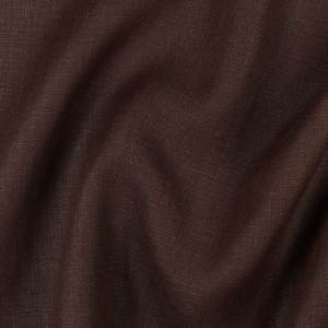 IL019   CHOCOLATE Softened - 100% Linen - Middle (5.3 oz/yd<sup>2</sup>)
