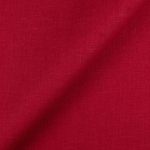 IL019 100% Linen fabric CRIMSON -  Softened