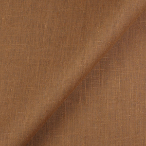 IL019 100% Linen fabric GINGER -  Softened