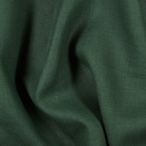 IL019 100% Linen fabric MALACHITE -  Softened