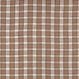 IL022 100% Linen fabric  - 827 PLAID Softened