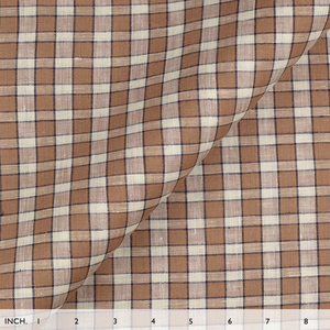 IL022 827 PLAID   Softened - 100% Linen - Light (3.5 oz/yd<sup>2</sup>) - 20.00  Yards