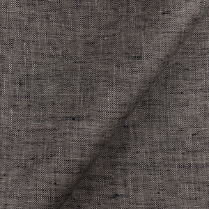 IL028 874 BLACK-NATURAL    - 100% Linen - Middle (6.6 oz/yd<sup>2</sup>) - 20.00  Yards
