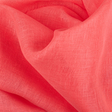 IL030 100% Linen fabric DEEP SEA CORAL -  Softened