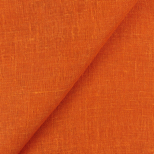 IL041   TANGERINE Softened - 100% Linen - Middle (5.01 oz/yd<sup>2</sup>) - 0.50  Yard