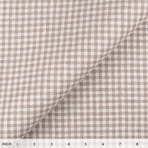 IL044 100% Linen fabric  - 839 GINGHAM