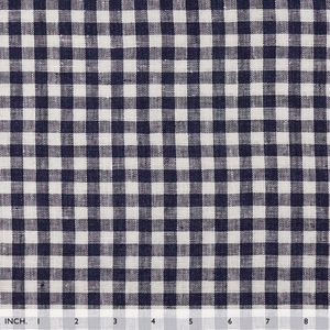 IL059 856 PLAID    - 100% Linen - Middle (5.8 oz/yd<sup>2</sup>) - 20.00  Yards