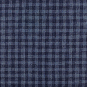 IL059 100% Linen fabric  - 857 PLAID