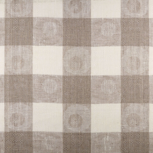 IL070 CIRCLES & SQUARES  IVORY-NATURAL  - 100% Linen - Heavy (7.1 oz/yd<sup>2</sup>) - 20.00  Yards
