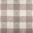 IL070 100% Linen fabric IVORY-NATURAL - CIRCLES & SQUARES