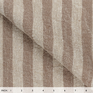 IL073 843 BROWN STRIPES    - 100% Linen - Canvas (9.1 oz/yd<sup>2</sup>)