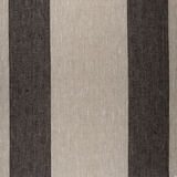 SO IL073 845 BLACK WIDE STRIP    - 100% Linen - Canvas (9.1 oz/yd<sup>2</sup>)