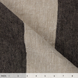 IL073 845 BLACK WIDE STRIP    - 100% Linen - Canvas (9.1 oz/yd<sup>2</sup>)
