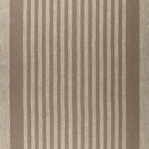 IL073 100% Linen fabric  - 846 BROWN THIN STRIP