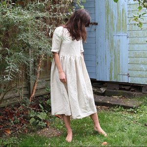 Cora  — Half Sleeve Linen Dress