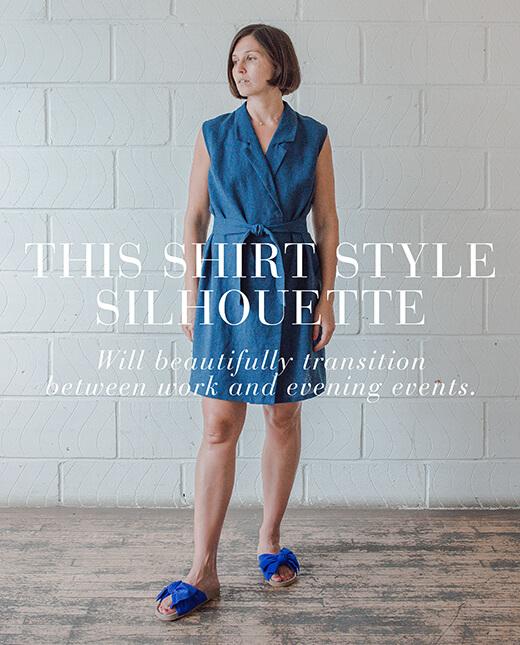 Hayden — Sleeveless Blazer Dress Pattern