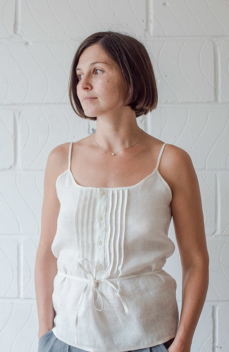 Ash — Pintuck Camisole