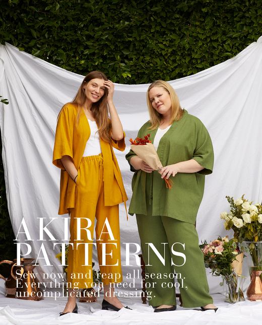 Akira — Linen Wrap, Short Cardigan, Long Cardigan, Pant and Capris