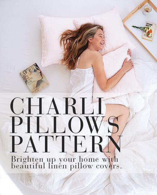 Charli  — Linen Pillow Cover Patterns