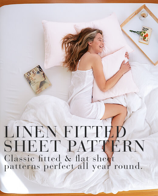 Classic Linen Bedding — Flat & Fitted Sheets