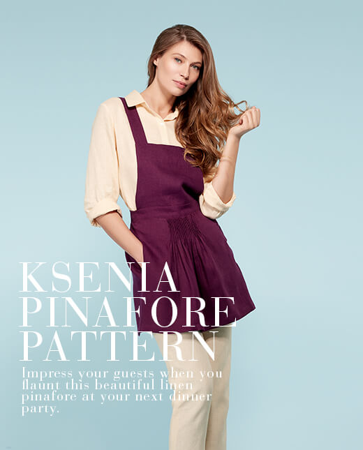 Ksenia  — Linen Pinafore Pattern