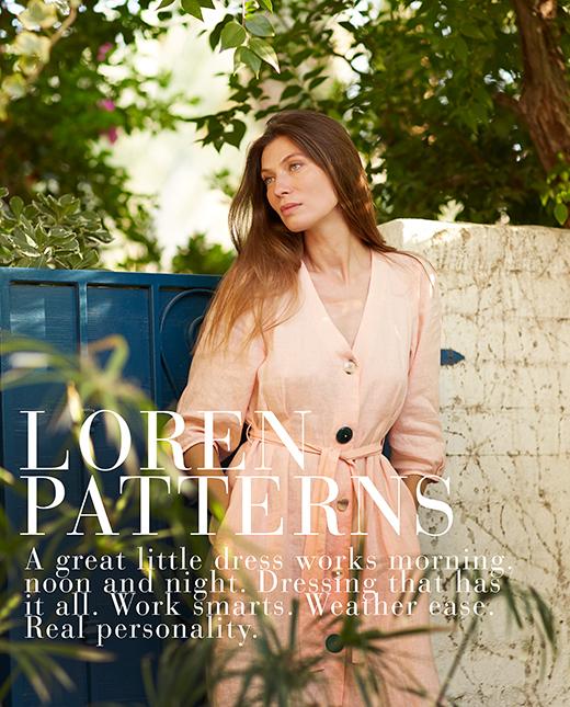 Loren — Linen Pullover Dresses